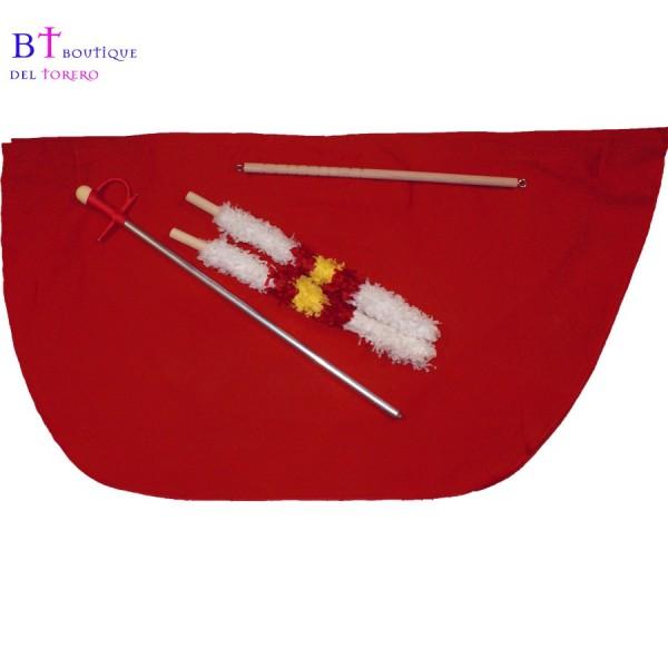 Muleta infantil 60 cm con banderillas