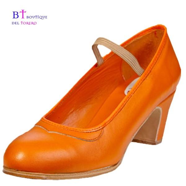 Zapato flamenco profesional con goma de sujeción