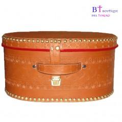 Caja de montera de torero artesana piel