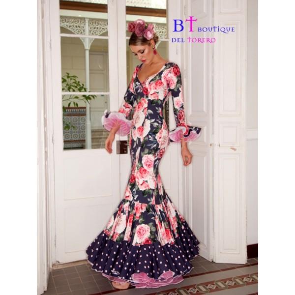 Traje de flamenca estampado en flores de Boutique del torero