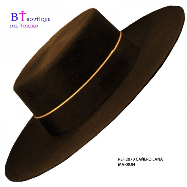 sombrero cordobés marrón