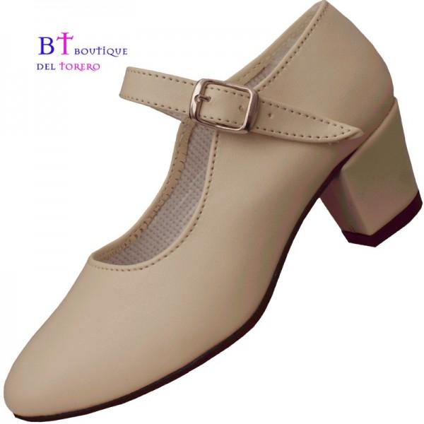 Zapato flamenca beige barato