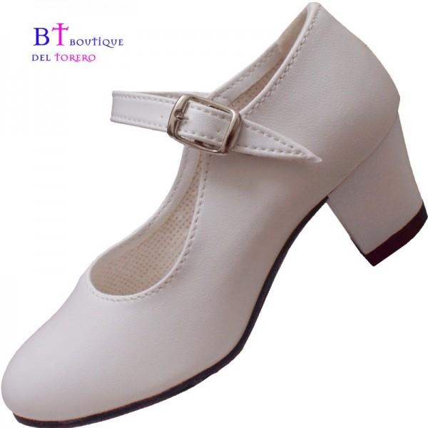 Zapato flamenca blanco barato