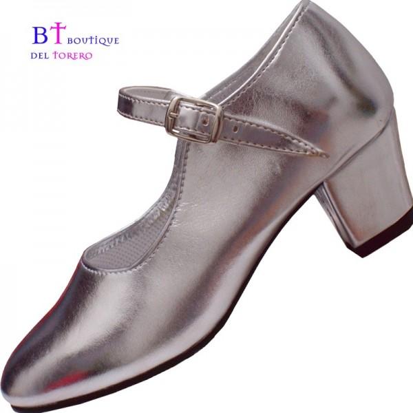 Zapato plata niña, zapato plateado princesa, zapato princesa frozen