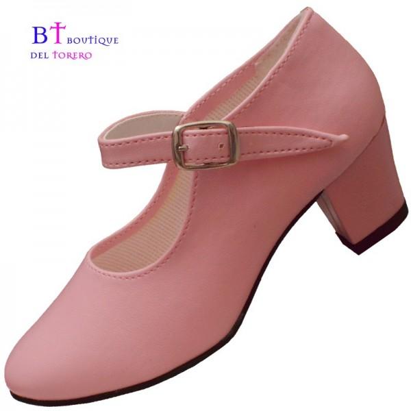 Zapato flamenco rosa barato, todas las tallas