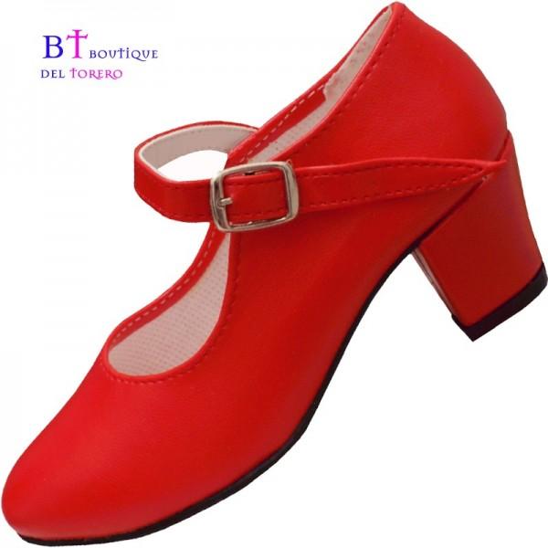 Zapato flamenca rojo barato