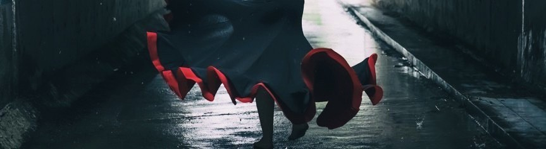 Saias de ensaio de flamenco
