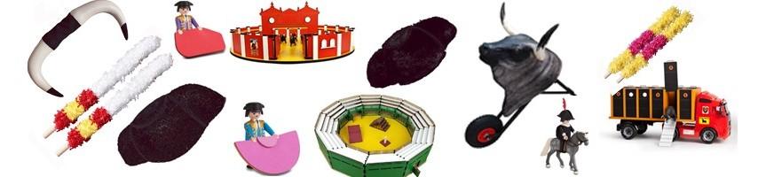 Astas, carretones, juguetes taurinos